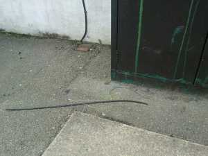 Rubbish wires left over by a careless employee
