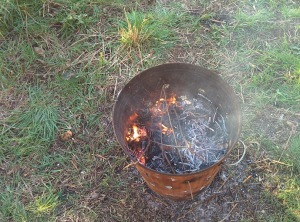 Fire in a dustbin